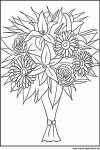 Bilder Von Blumenstrauß : blumenstrau als ausmalbild malvorlagen von blumen ~ Buech-reservation.com Haus und Dekorationen