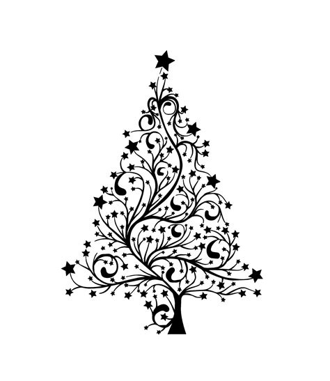 Tree Template Black And White by Search Results For Black And White Christmas Card