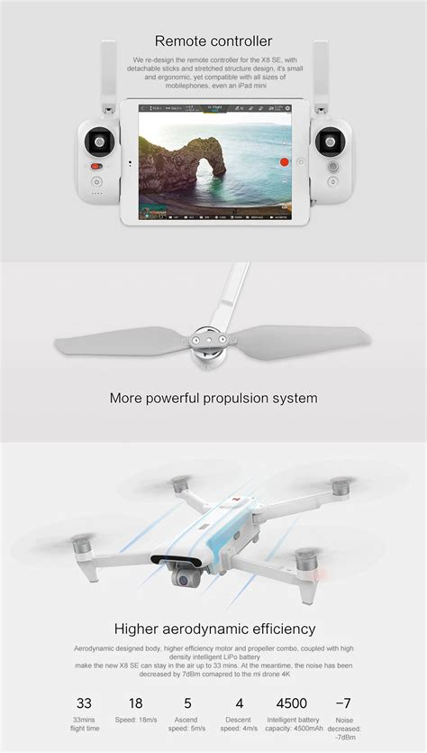 fimi  se km fpv   axis gimbal  camera gps mins flight time rc drone quadcopter rtf