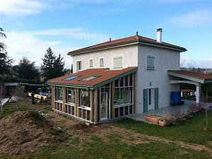 Ossature Bois Maison : maison et extension en ossature bois lyon mv toiture ~ Melissatoandfro.com Idées de Décoration