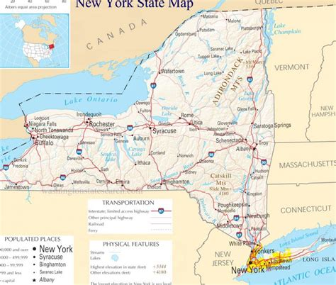 york state county maps  travel information