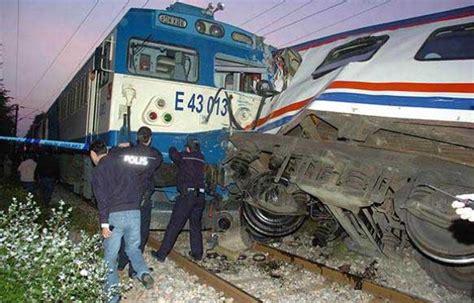A Big Train Crash In Northwest Turkey