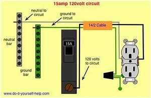 Wiring Diagram 15 Amp Circuit Breaker 120 Volt Circuit