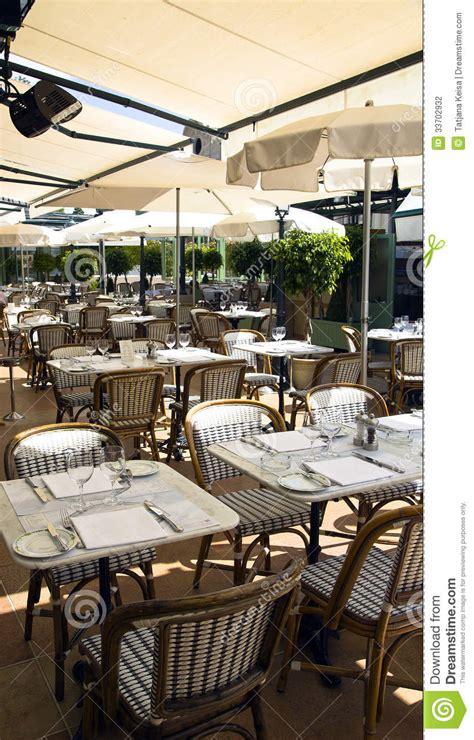 summer patio of cafe de pari stock photography image