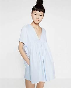 zara low cut jumpsuit dress in blue lyst With robe bleu electrique zara