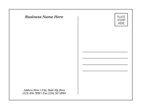 great postcard templates designs word