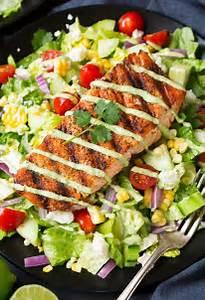 Mexican Grilled Salmon Salad with Avocado Greek Yogurt ...