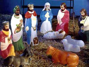 small nativity scene general foam plastics corp