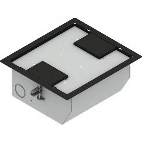 fsr 700 floor box fsr rfl qav ddblk raised access floor box black rfl qav