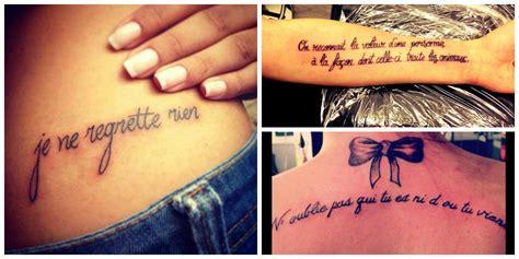 tatouage phrase francaise homme mod 232 les et exemples