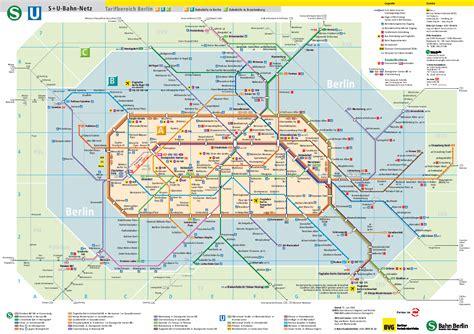 S-und U-bahn Netz Berlin Karte