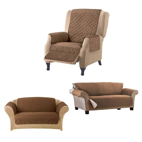 Settee Protectors by 1 2 3 Seater Sofa Arm Chair Slip Cover Quilted