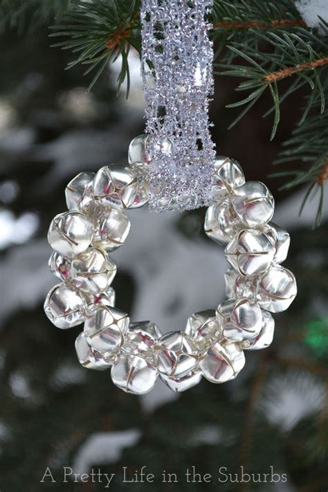 jingle bell ornaments to make easy silver bells wreath ornament a pretty life in the suburbs