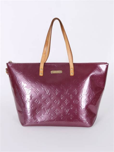 louis vuitton bellevue gm monogram vernis leather violet luxury bags