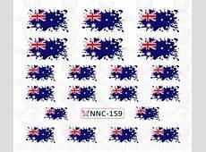 AUSTRALIAN FLAG Paint Splatter Nail Water Transfer Decal