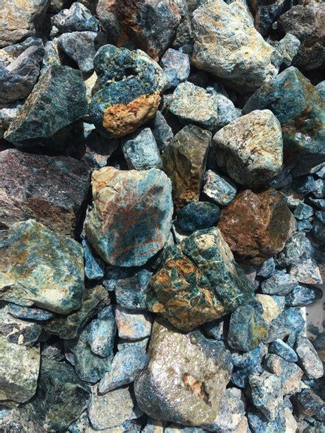 Rough Rock : Apatite Blue Rough Stone 500 grams