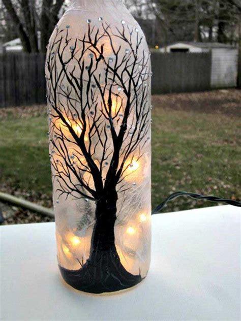 awesome ideas    wine bottle lights