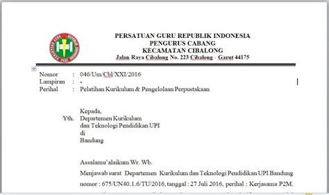 contoh surat balasan organisasi ke dinas instansi lembaga
