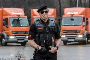 Sylvester Stallone gets mobbed as he films Warburtons ...