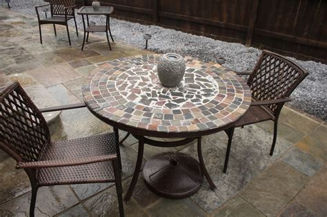 home depot glass tile tile top patio table home depot tile