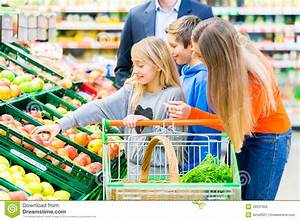 Family Grocery Shopping In Hypermarket Stock Photo - Image ...