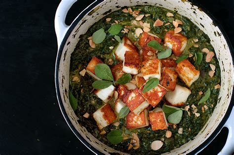 saag paneer spinach curry  cheese  kitchen