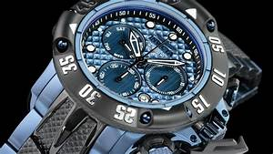 Invicta 23807 50mm Subaqua Poseidon Black  U0026 Blue Plated