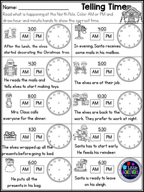 christmas worksheets math and literacy first grade