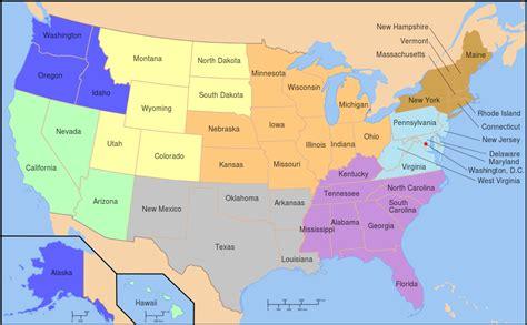 Filemap Of Usa Np Passport Regionssvg  Wikimedia Commons
