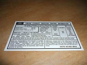 1976 Ford Truck 360 Big Block Engine Emissions Decal