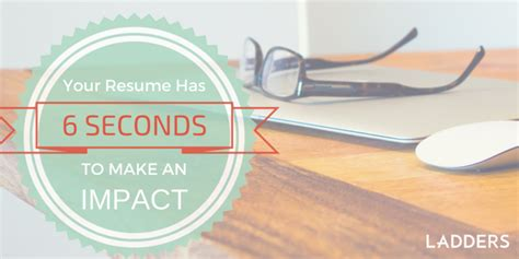 Resume 7 Seconds by You 6 Seconds To Make An Impression How Recruiters