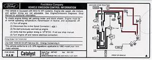 Mustang Emissions Decal - 5 Speed  1993  5 0