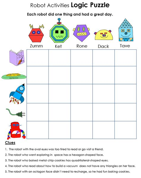 printable puzzle worksheets images