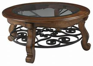 Round coffee table with glass top roselawnlutheran for Glass top circle coffee table