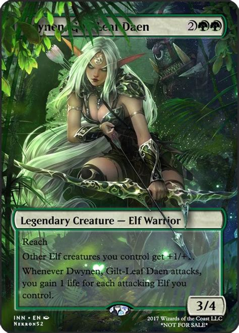 magic mtg commanders gathering leaf card cards elf daen gilt legendary mono creature deck altered elves draw awesome power each
