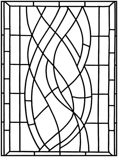 Art Deco Stained Glass Madrid 1 Stained Glass Adult