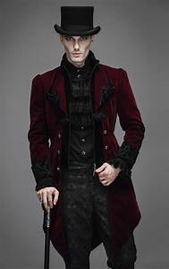 Devil Fashion Mens Gothic Red Storm Velvet Jacket | Velvet ...
