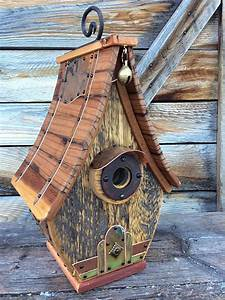 Unique, Barnwood, Birdhouse, Recycled, Handmade, Gift, Copper
