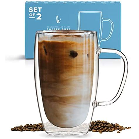 Holds heat well without making the outside of the mug hot. Coffee Cups & Mugs Or Tea Glass Set 2, 15oz Double Wall Thermo Insulated With | eBay