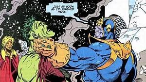 Thanos vs Hulk ... Warlock and Silver Surfer watching ...