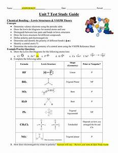 Test Study Guide - Answer Key