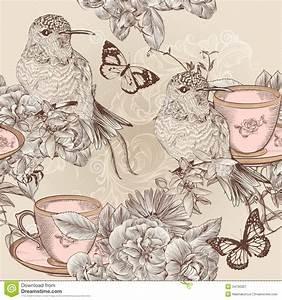 Vintage Bird Pattern Wallpaper | www.imgkid.com - The ...