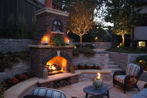 minneapolis outdoor fireplace pool traditional patio