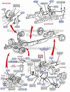 Brand New Oem Rear Brake Hose Ford 1999