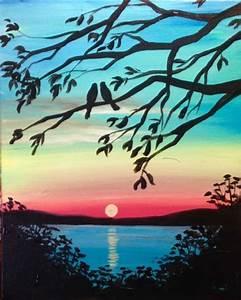 Acrylbinder Selber Machen : die besten 25 sunset painting easy ideen auf pinterest anf nger malen einfache leinwandkunst ~ Yasmunasinghe.com Haus und Dekorationen