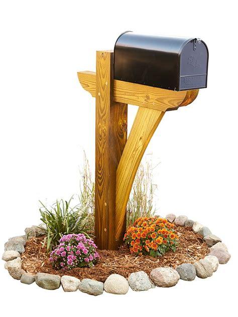 timber framed mailbox  pressure treated  beams
