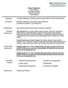 resume of students exles preschool resume sales lewesmr