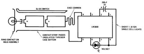 Li Led Flashlight Diagram by Flashlights Finder Circuit Using Lm3909 Oscillator Circuit