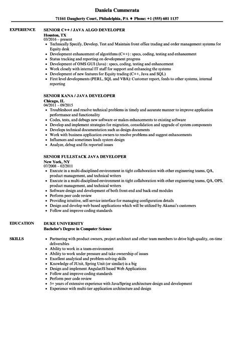 sle resume for experienced mainframe developer
