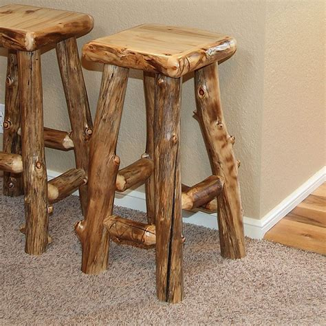 Log Stool - aspen estate log bar stool for the home log bar stools